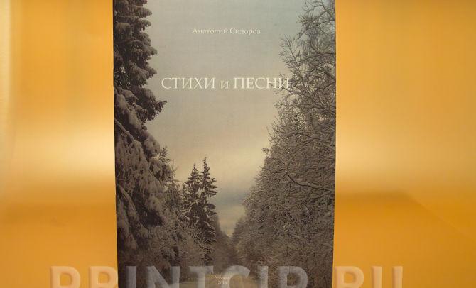 Сборник стихов в мягкой обложке, шитье скобой
